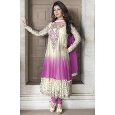 Price : Rs.2,513.00 Alluring off white & light pink salwar kameez Brand : Dani Fashions  Buy Online : http://www.shrayathi.com/apparel-for-women/salwar-kameez?product_id=2138 An Outstanding Off White, Light Pink Faux Georgette & Net Salwar Kameez Will Make You Look Very Stylish And Graceful. The Lace, Resham & Stones Work On Attire Personifies The Entire Appearance. Paired With A Matching Bottom. Comes With A Matching Dupatta. Semi Stitched Material.