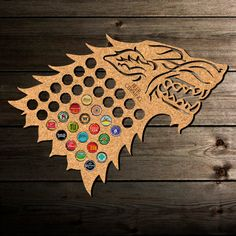 Beer Cap Map Game of Thrones. Winter is Coming Gift, Christmas Gift, Father's Day Gift, Gift for Him, Gift for Dad, Beer Cap Holder