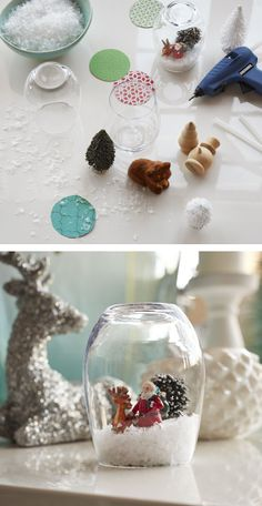 If you're like us, you can't resist giving a snow globe a little shake. Here's a simple way to make one for yourself (and show off your creative side, too!).