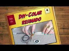Faça você mesma um colar com pingente resinado - DIY - YouTube