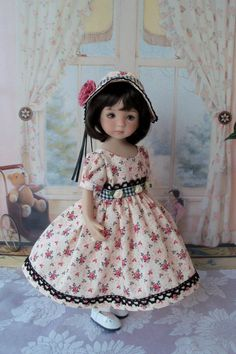 Spring Gown and Bonnet for Dianna Effner 13 Little by Farmcookies