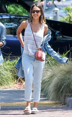 Jessica Alba from The Big Picture: Today's Hot Pics  The actress celebrates the Fourth of July with her family at the Malibu Country Mart.