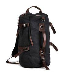Vintage Soft Canvas Backpack Rucksack Laptop Shoulder Travel Hiking Camping Bag