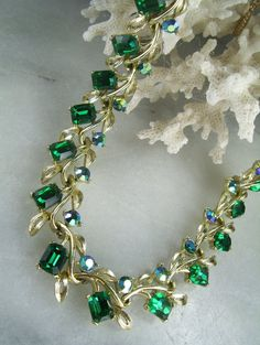Gorgeous mid-century necklace from Lisner, purchased from PatziPlace on  Etsy.