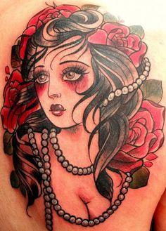 ✿ Lady #tattoo byAlix Ge ✿