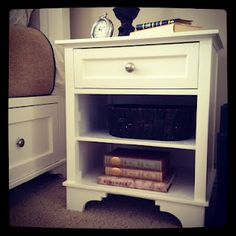 DIY tutorial on how to build this cute nightstand