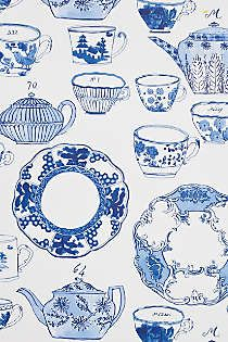 Delft wallpaper by Molly Hatch. Molly illustrated all of her gorgeous Delft dinnerware for a lovely wallpaper at Anthropologie. Delft, Love Wallpaper, Designer Wallpaper, Wallpaper Designs, Molly Hatch, Blue Dinnerware, Blue And White Dinnerware, Illustration Art, Illustrations