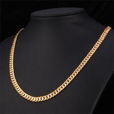 Hiphop Żółty Pozłacane Two Tone Łańcuchy Dla Mężczyzn Mody biżuteria 18 ''22'' 26 kpop ''6mm choker/długa kubańska link naszyjnik N828 - Jewelry for everyday. High quality low prices! Made in England designer jewelry. Sterling silver & gold earrings, necklaces, bracelets, brooches, cuff links, jewelry sets.