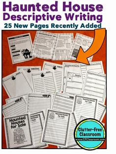 Haunted House for Sale Descriptive Writing Activity {Common Core Writing, Halloween, Craft}