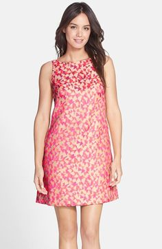 Trina Turk 'Lindy' Geo Jacquard Back Pleat Dress available at #Nordstrom