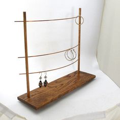 The Triple Bar Earring Display Holder  Jewelry Display by CalDIY, $97.00