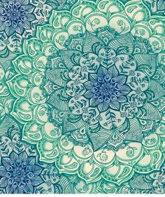 Emerald Doodle by micklyn; avail as art print and many products at RedBubble