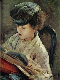 Niña que lee (1885), de Antonio Mancini (1852-1930)- Las Lecturas de Mr. Davidmore: Diez pinturas con literatura