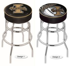 Idaho Vandals Retro Chrome Bar Stool