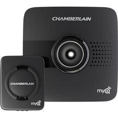 Chamberlain - MyQ Garage Door Controller - Black - Larger Front
