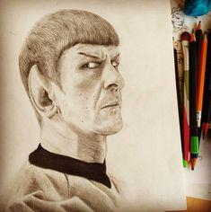 Mr. Spock, matite varie su carta ruvida Portrait Mr. Spock Star Trek Spock, Pencil Portrait, Star Trek, Stars, Starship Enterprise, Sterne