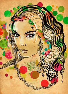 Dots    by Irmak Akcadogan  Art Print