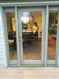 Used 72 X 80 Patio Door With Sidelights That Open For Sale In Lakewood 72 X 80 Patio Door With S Single Patio Door Patio Doors Exterior Doors With Sidelights