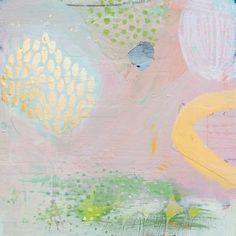 "original mixed media painting on wood panel 9""x9"" www.AddieRementer.com $125"