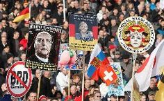 """Protesters rally under the anti-migrant banner """"Fortress Europe"""" in cities including Dresden, Prague, Calais, Dublin and AmsterdamA march by Germany's anti-Islamic organisation Pegida drew thousands to the eastern city of Dresden on Saturday with rallies in support of the movement also held in a stri"""