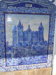 Portugal. Aveiro. Painel de azulejos na estação da CP Aveiro ...