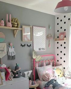 Looking for inspiration to decorate your daughter's room? Check out these Adorable, creative and fun girls' bedroom ideas. room decoration, a baby girl room decor, 5 yr old girl room decor. Girls Bedroom, Boys Bedroom Colors, Bedroom Decor, Bedroom Ideas, Bedroom Designs, Bedroom Wall, Master Bedroom, Room Girls, Childrens Bedroom