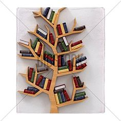 Awesome And Genius Tree Bookshelf Design And Styling Ideas Diy Bookshelf Design, Creative Bookshelves, Shelving Design, Bookcase Decorating, Decorating Ideas, Creative Walls, Creative Decor, Creative Design, Tree Bookshelf