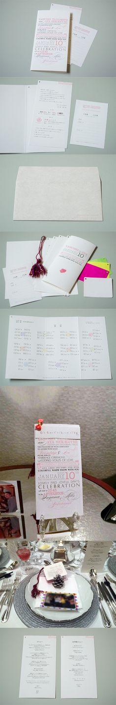 Wedding Paper Items that can stack with tassel; タッセルで閉じることができる結婚式のペーパーアイテム  #paper #wedding #invitation