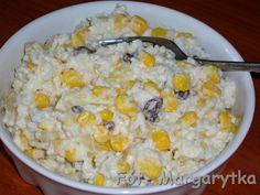 Kulinarne szaleństwa Margarytki: Sałatka ryżowa z ananasem, kukurydzą i rodzynkami