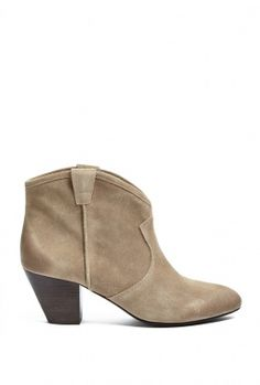 Taupe Brushed Suede Jalouse Ankle Boots by Ash