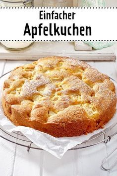 simple apple cake- Einfacher Apfelkuchen Easier Cake is the classic cake recipe. Delicious Cake Recipes, Pound Cake Recipes, Easy Cake Recipes, Yummy Cakes, Cookie Recipes, Dessert Recipes, Yummy Food, Yummy Lunch, Fudge Recipes
