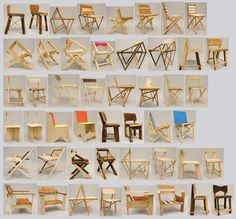 Andy Hall - 24, Hour Chairs.  Make one chair in exactly one hour = 24 chairs in 24 hours. All materials given by Rebuilding Exchange in Chicago, IL, USA. 2010