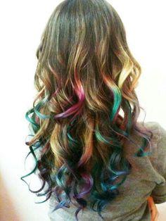 Rainbow hair :3
