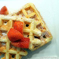 easy homemade waffle recipe @cleverlyinspired (7)