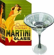 Dorothy Parker Martini Glass: 'I like to have a Martini, two at the very most; three, I'm under the table, four I'm under my host!' So quipped Dorothy Parker. Dorothy Parker, Martinis, Cocktails, Man Ray, Bar Drinks, Book Making, Barware, Deco, Glass Kitchen