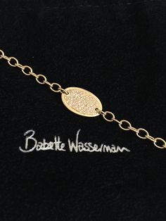 18 carat yellow gold and diamond bracelet by Babette Wasserman