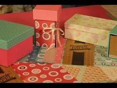 Como forrar una caja con papel - Trazado de Caja - Proyecto Papel - YouTube
