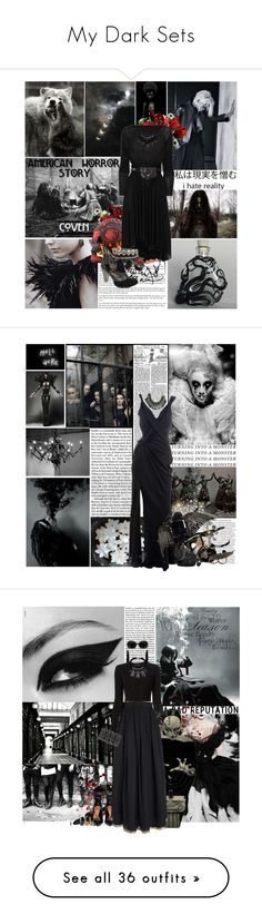 """My Dark Sets"" by lady-redrise ❤ liked on Polyvore featuring Revolver, Coven, LSA International, Rick Owens, ASOS, Miso, Irregular Choice, Topshop, John Galliano and Christian Dior"