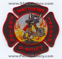Matthews Fire and EMS Department D Shift Patch North Carolina NC