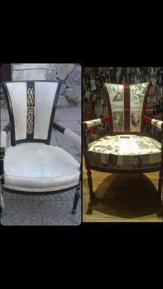 Ve bir koltuk daha bitti. Eski görüntüsünden sonra yeni modern bir görünüme kavuştu
