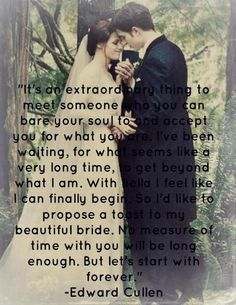 Breaking Dawn Part 1 Twilight Saga Quotes, Twilight Saga Series, Twilight Edward, Twilight Series, Twilight Movie, Edward Bella, Breaking Dawn, A Thousand Years, Movie Quotes