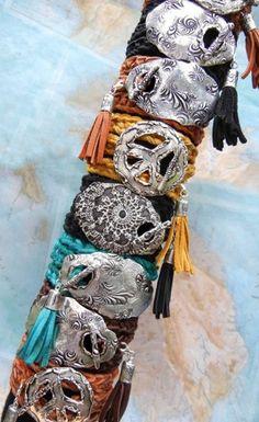 Leather Wrap Bracelet, Personalized Custom Silver Jewelry