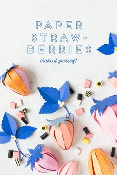 Paper Strawberry Surprise Ball - The House That Lars Built - DIY Crafts - Origami Handmade Crafts, Diy And Crafts, Arts And Crafts, Craft Tutorials, Craft Projects, Welding Projects, Diy For Kids, Crafts For Kids, Diy Fleur