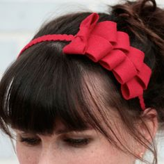 Ribbon Candy  Red red, fabbody, wearables
