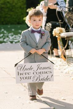 Give Your Ring Bearer A Sweet Sign To Announce The Bride S Arrival Briana Marie