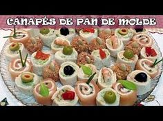 Mini Sandwiches, Pasta Choux Receta, Tapas, Canapes Faciles, Decadent Cakes, Pork Roast, Lechon, Cake Cookies, Finger Foods