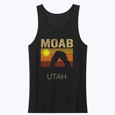 Moab Utah Retro Sunset Sunset Adventure Wanderlust Travel Outdoor Tank Top