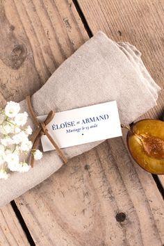 Etiquette cadeau pour mariage champêtre et classique Nature chic... #wedding #gift #label #nature #blue