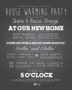 Housewarming And Birthday Party Ideas