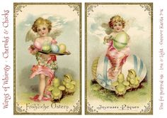 Wings of Whimsy: Vintage Cherubs & Chicks Postcards